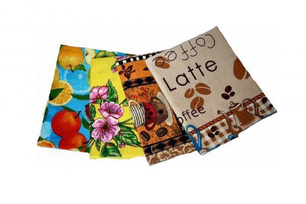 Полотенца кухонные цветные Кофе15, 45х75 см