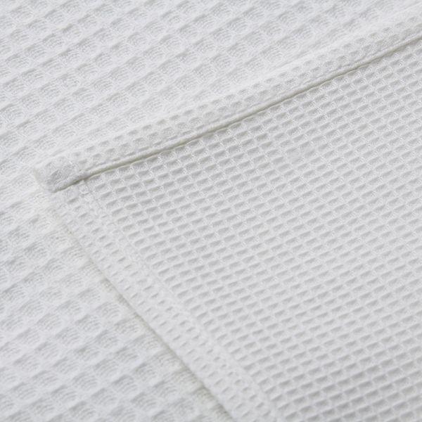 Вафельное полотенце белое 100% х/б, 45x75 см, упаковка 10 шт., ОПТ