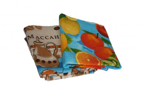 Полотенца кухонные цветные 45х75 см , хб высокого качества