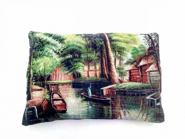 Декоративные подушки из гобелена Лодки