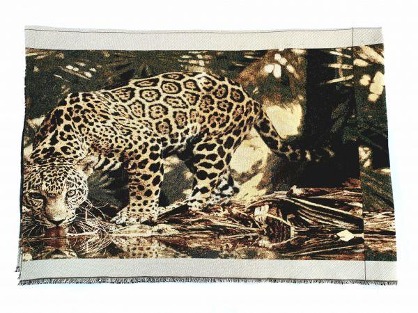 Покрывало гобеленовое - гобелен Леопард1