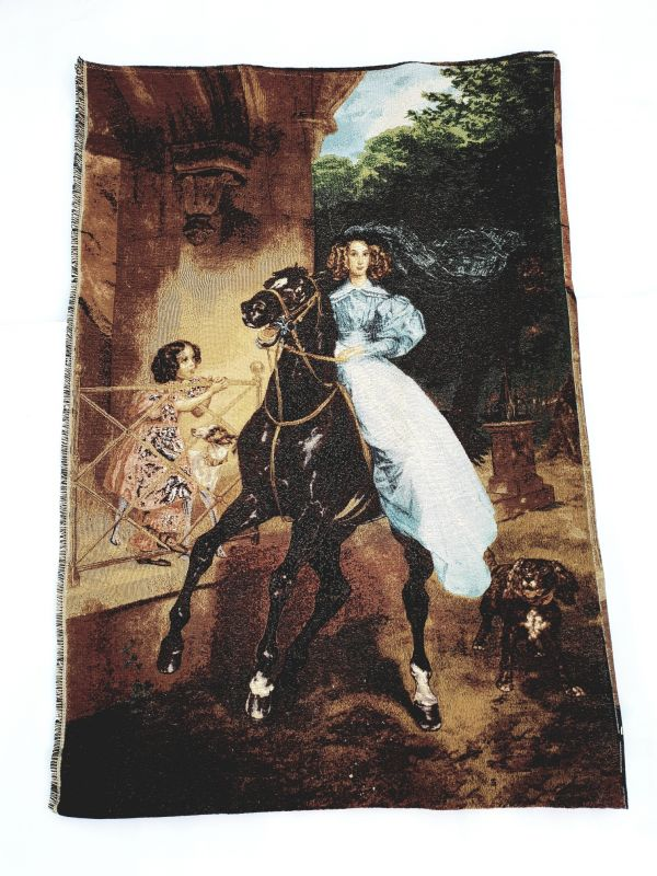 Покрывало гобеленовое - гобелен Дама на коне