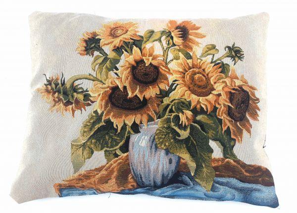 Декоративная подушка из гобелена Подсолнухи
