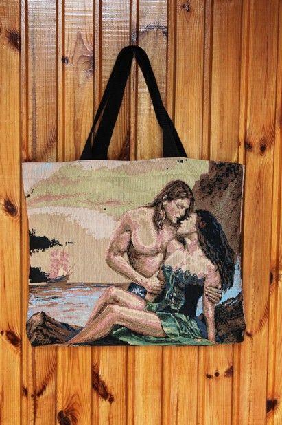 Сумка пляжная женская У МОРЯ (на ремне), брендовая TIRA, Украина