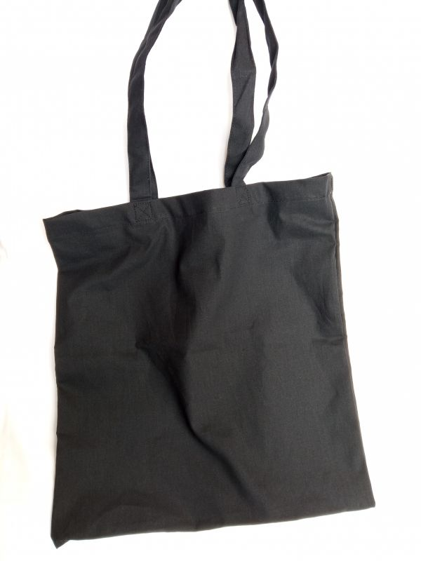 Эко сумка черная 100% хб, без печати