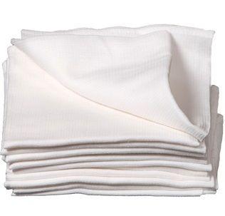 Вафельное полотенце (Белое) 100% х/б, 45x45 см,  упаковка 10 шт., ОПТ