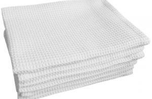 Купить Белые вафельные полотенца оптом в интернет магазине domtex